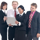 A group of businesspeople in formal clothes Stock Image