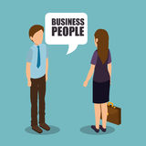 Group of businesspeople gathered Stock Image