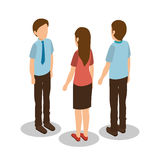 Group of businesspeople gathered. Vector illustration design Stock Photo