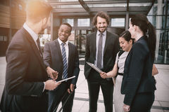 Group of businesspeople having conversation Stock Photography