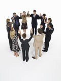 Group Of Businesspeople Holding Hands In Circle Stock Photography