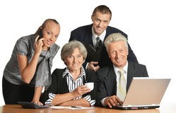 Group of a businesspeople Royalty Free Stock Photo