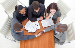 Group of businesspeople in a meeting Stock Photos
