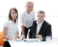 Group of businesspeople on meeting Royalty Free Stock Photo