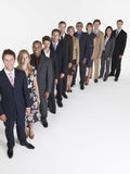 Group Of Businesspeople In Row Royalty Free Stock Images