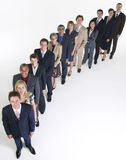 Group Of Businesspeople In Row Stock Image