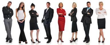 Group of businesspeople standing. Isolated on a white background royalty free stock photos