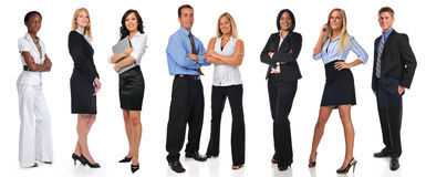 Group of businesspeople standing. Isolated on a white background royalty free stock photo