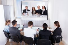 Group of businesspeople in video conference Royalty Free Stock Image