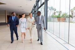 group of businesspeople walking Stock Image