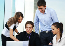 A group of businesspeople is working together Stock Photo