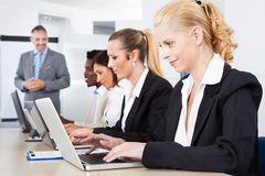 Group of businesspeople working together Royalty Free Stock Images