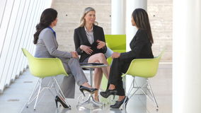 Group Of Businesswomen Having Informal Meeting stock video footage