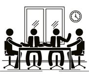 Group of bussinespeople in the office. Vector illustration design Stock Photos