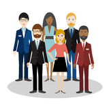 Group of bussiness people. Cartoon avatar. Royalty Free Stock Photography
