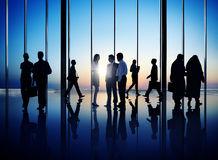 Group Of Busy Business People Stock Photos