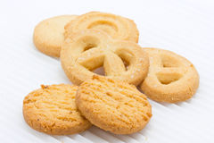 Group Of Butter Cookies. Royalty Free Stock Image
