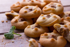 Group of butter shortbread cookies Royalty Free Stock Images