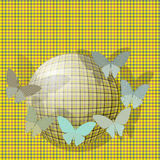 Group of butterflies near the ball on the backgrou Stock Images