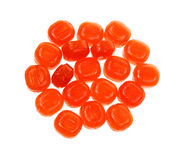 Group Butterscotch Hard Candy. A nice view of a group of butterscotch hard candy Royalty Free Stock Photography