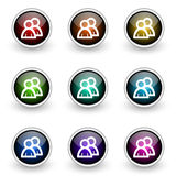 Group button set Royalty Free Stock Image
