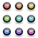 Group button set Royalty Free Stock Photos