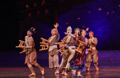 """Group of bystanders-Dance drama """"The Dream of Maritime Silk Road"""" Royalty Free Stock Photography"""