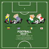 Group C Of 2014 Football (Soccer) Tournament. Group C Of 2014 Football (Soccer) Tournament Vector Illustration Royalty Free Stock Photo