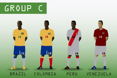 Group C for American Soccer Stock Photography