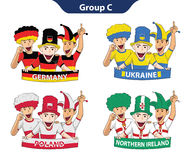 Group C Euro 2016 Royalty Free Stock Photography