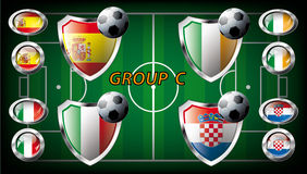 Group C - Spain, Italy, Ireland, Croatia. Stock Images