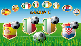 Group C - Spain, Italy, Ireland, Croatia Royalty Free Stock Photography