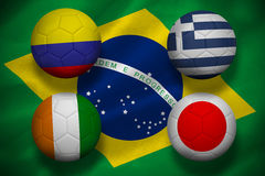 Group c world cup footballs Royalty Free Stock Photo