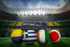 Group c world cup footballs Royalty Free Stock Photography