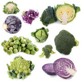Group of cabbages Royalty Free Stock Photos