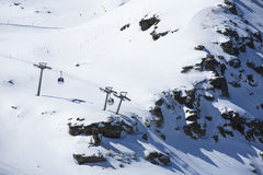 Group of cable car cabins in Sierra Nevada, Stock Images