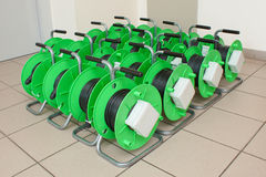 Group of cable reels Stock Photography