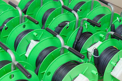 Group of cable reels Stock Photos