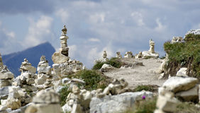 A group of cairns #2 Royalty Free Stock Photos