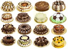 Group of cakes Royalty Free Stock Photos