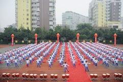 Group callisthenics Performance Royalty Free Stock Image