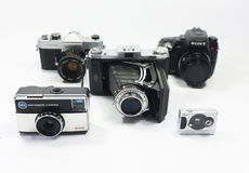 Group of cameras Stock Images