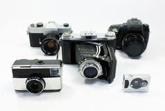 Group of cameras Royalty Free Stock Image