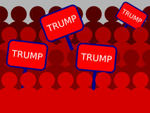 A group of campaign supporters for Trump Royalty Free Stock Photography