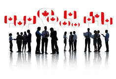 Group Of Canadian Business People Talking Stock Photography