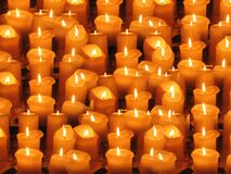 Group of Candle Lightened Stock Image