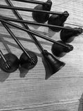 Black and white picture candle snuff royalty free stock photos