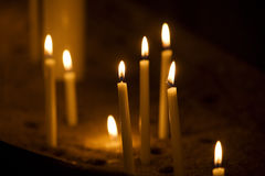 Group of candles Stock Image