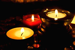 Group of candles Stock Photography