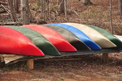Group of Canoes Royalty Free Stock Photography